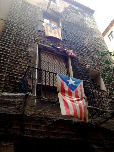 barcelona - flags