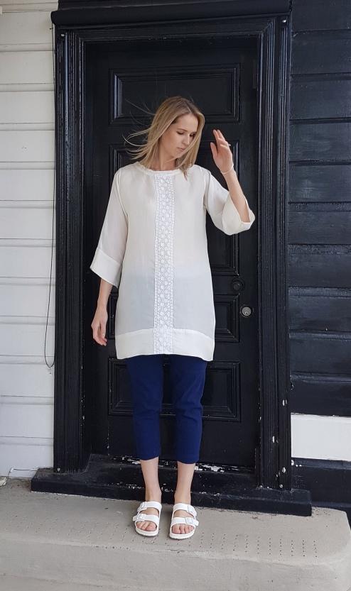 white-top-long-blue-pants-front-lb-style